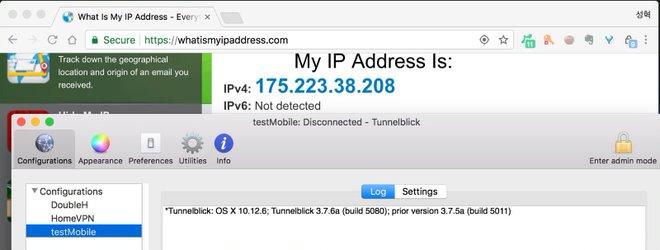 VPN 연결 전에는 이랬던 IP가